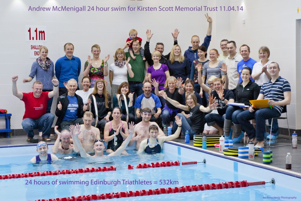 24 hour swim for Andrew McMenigall
