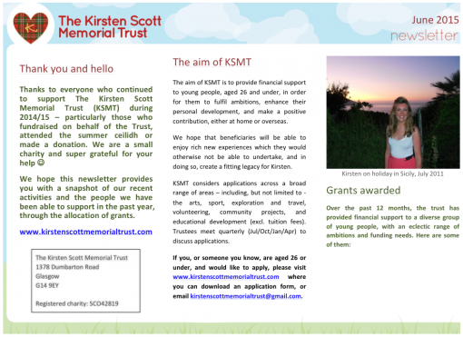 Newsletter cover for website